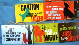 fun dog signs