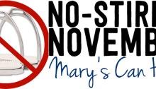 no-stirrup november, mary's can help